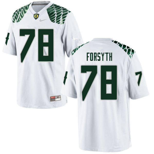 Men #78 Alex Forsyth Oregn Ducks College Football Jerseys Sale-White