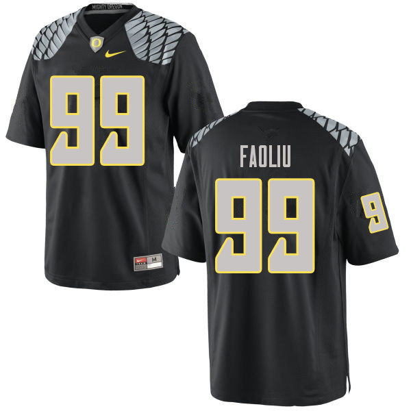 Men #99 Austin Faoliu Oregn Ducks College Football Jerseys Sale-Black