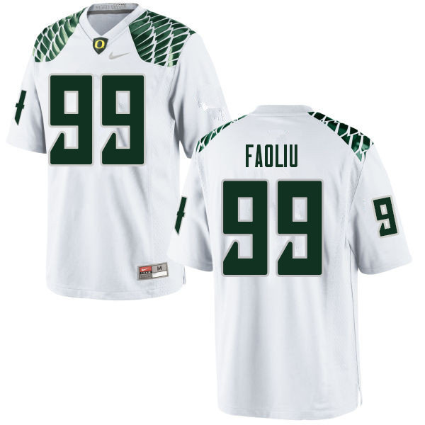 Men #99 Austin Faoliu Oregn Ducks College Football Jerseys Sale-White