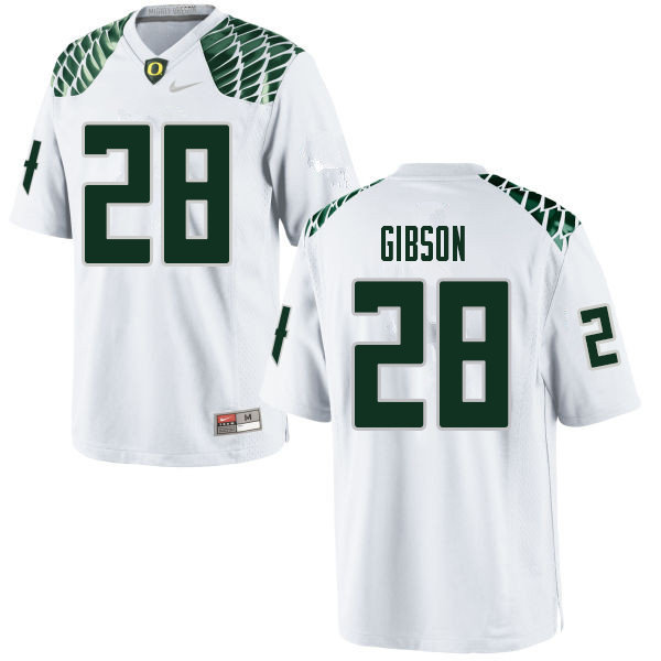 Men #28 Billy Gibson Oregn Ducks College Football Jerseys Sale-White