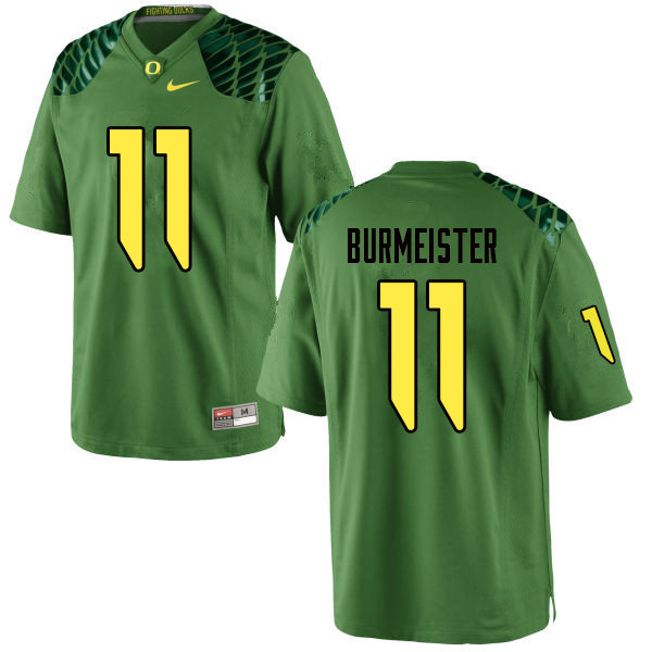 Men #11 Braxton Burmeister Oregn Ducks College Football Jerseys Sale-Apple Green