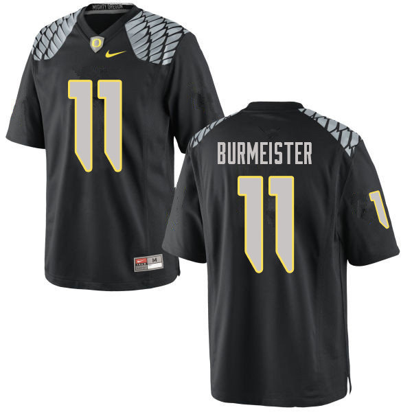 Men #11 Braxton Burmeister Oregn Ducks College Football Jerseys Sale-Black
