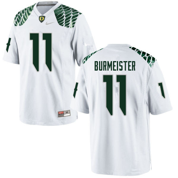 Men #11 Braxton Burmeister Oregn Ducks College Football Jerseys Sale-White