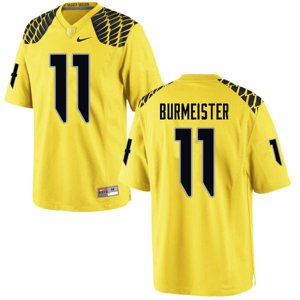 Men #11 Braxton Burmeister Oregn Ducks College Football Jerseys Sale-Yellow