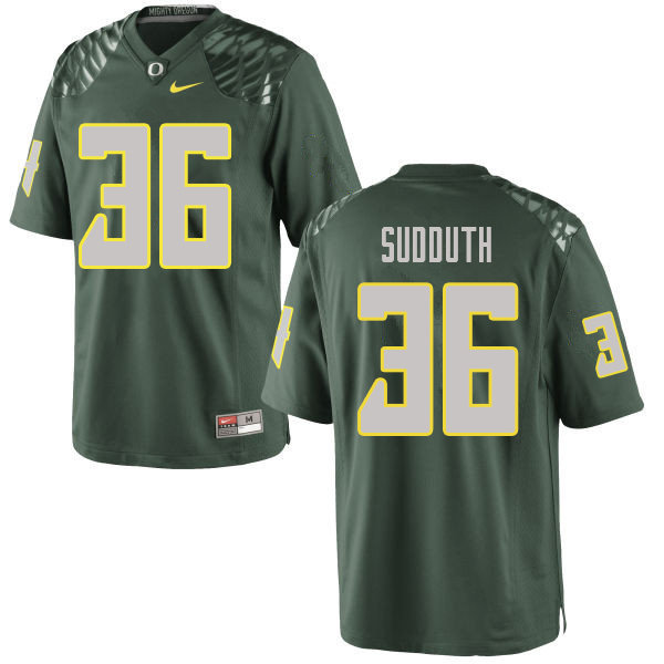 Men #36 Charles Sudduth Oregn Ducks College Football Jerseys Sale-Green