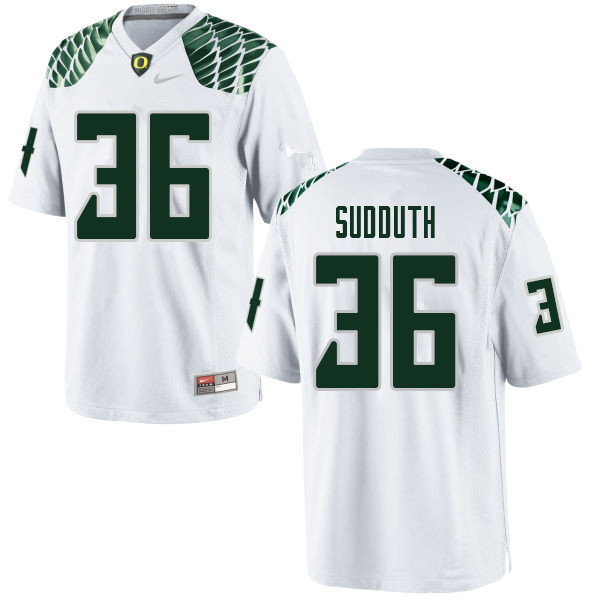 Men #36 Charles Sudduth Oregn Ducks College Football Jerseys Sale-White