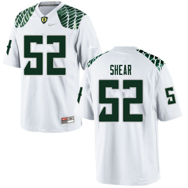 Men #52 Cody Shear Oregn Ducks College Football Jerseys Sale-White