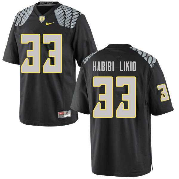 Men #33 Cyrus Habibi-Likio Oregn Ducks College Football Jerseys Sale-Black