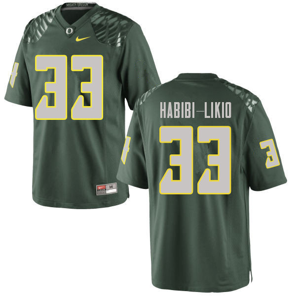 Men #33 Cyrus Habibi-Likio Oregn Ducks College Football Jerseys Sale-Green