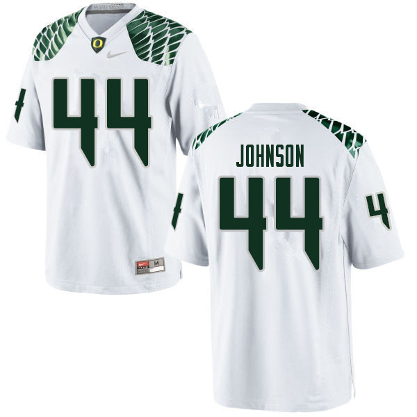 Men #44 D.J. Johnson Oregn Ducks College Football Jerseys Sale-White