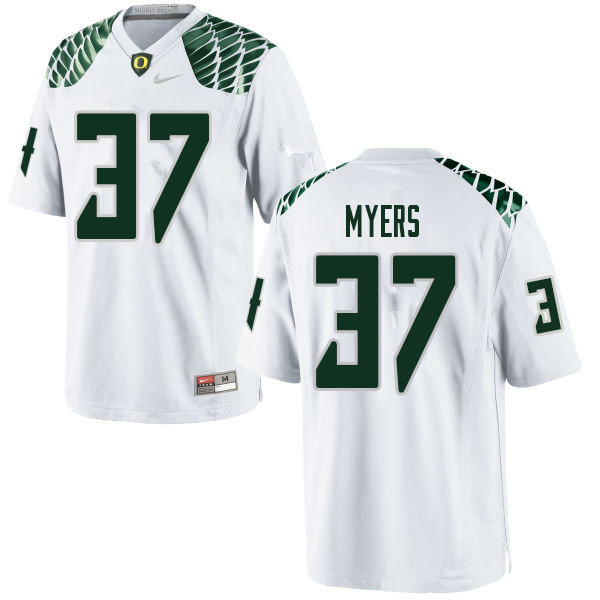 Men #37 Dexter Myers Oregn Ducks College Football Jerseys Sale-White