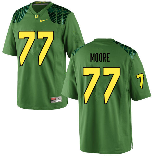 Men #77 George Moore Oregn Ducks College Football Jerseys Sale-Apple Green