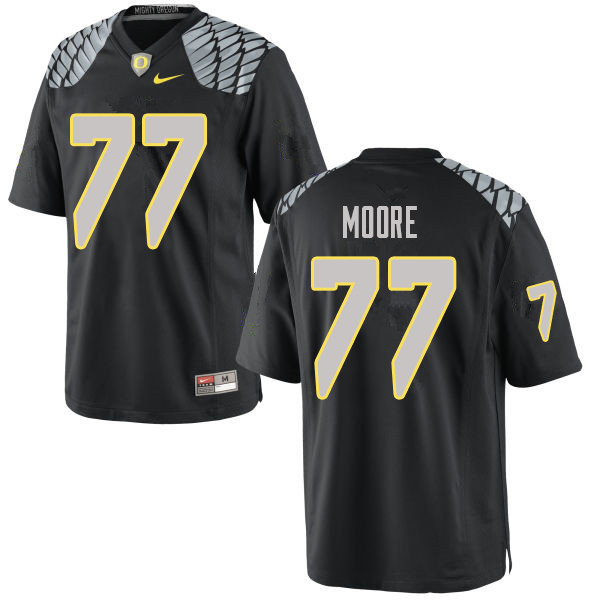 Men #77 George Moore Oregn Ducks College Football Jerseys Sale-Black