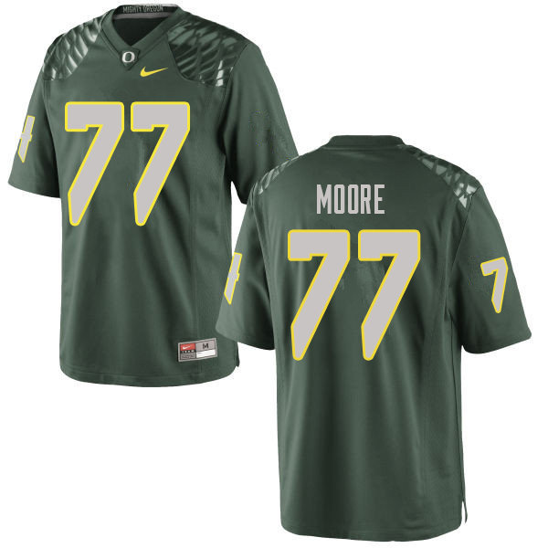 Men #77 George Moore Oregn Ducks College Football Jerseys Sale-Green