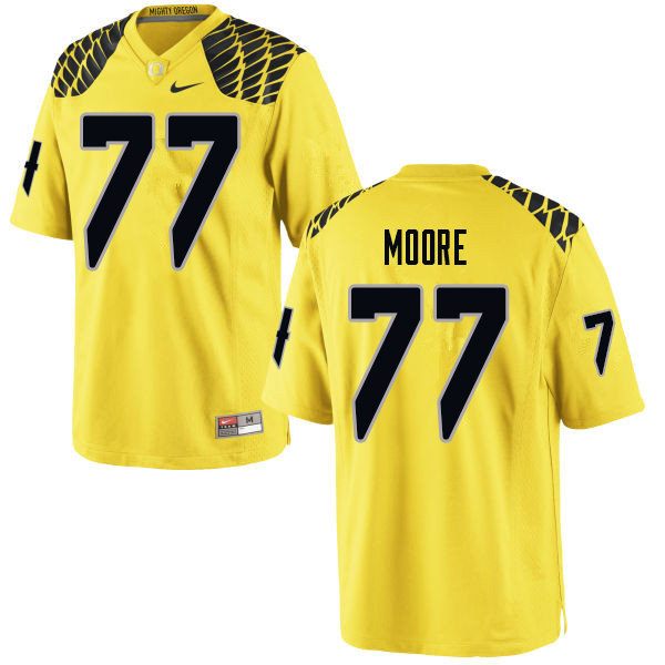 Men #77 George Moore Oregn Ducks College Football Jerseys Sale-Yellow