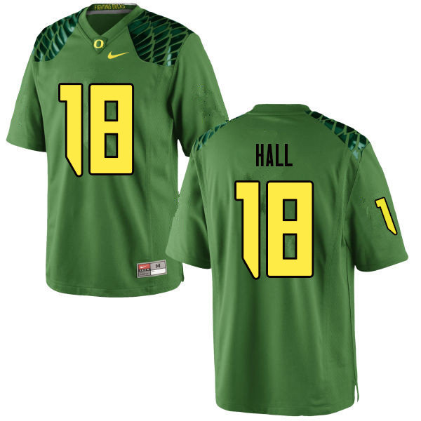 Men #18 Jalen Hall Oregn Ducks College Football Jerseys Sale-Apple Green