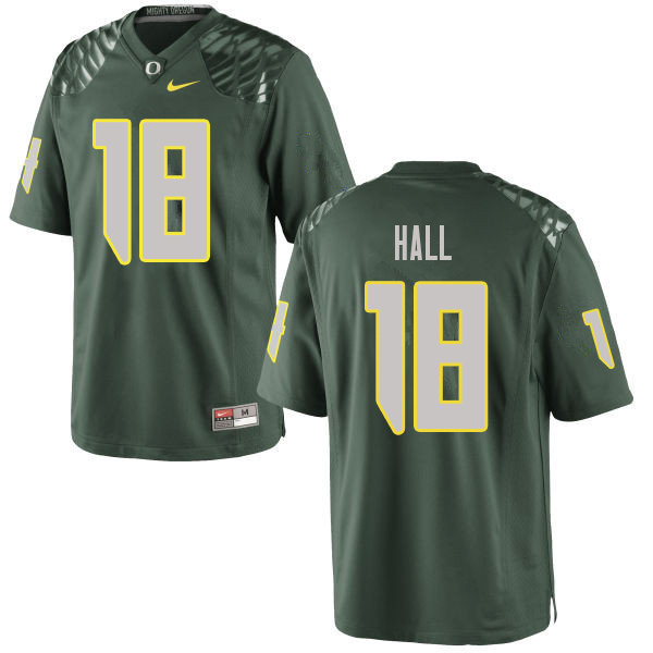 Men #18 Jalen Hall Oregn Ducks College Football Jerseys Sale-Green