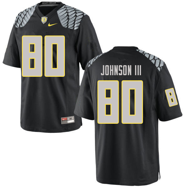 Men #80 Johnny Johnson III Oregn Ducks College Football Jerseys Sale-Black