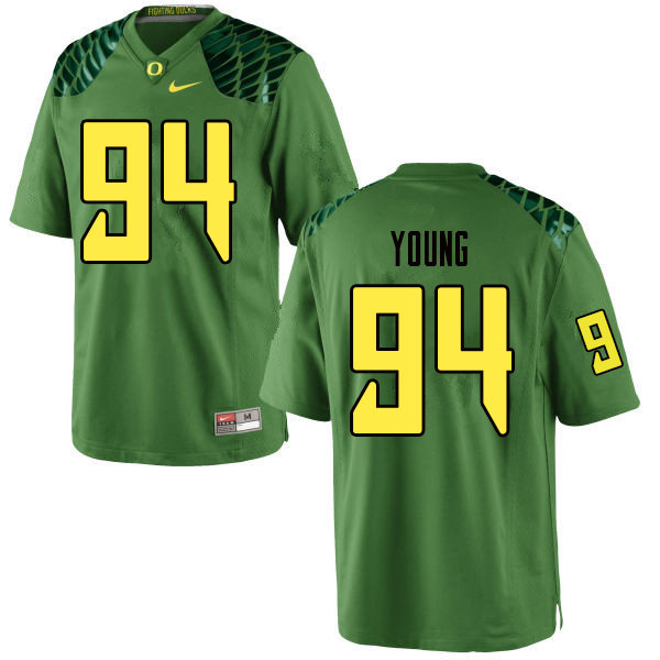 Men #94 Malik Young Oregn Ducks College Football Jerseys Sale-Apple Green