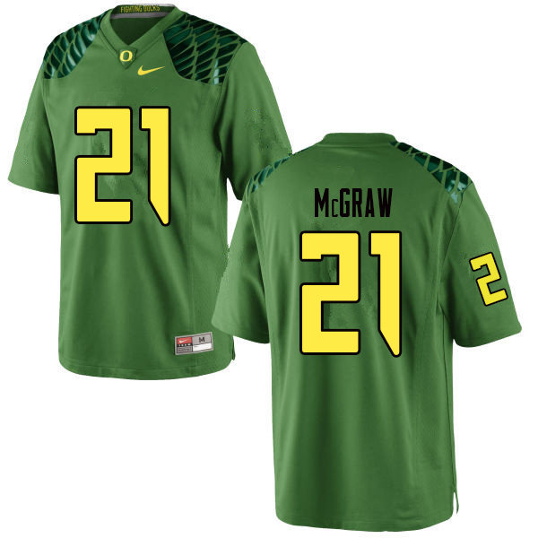 Men #21 Mattrell McGraw Oregn Ducks College Football Jerseys Sale-Apple Green