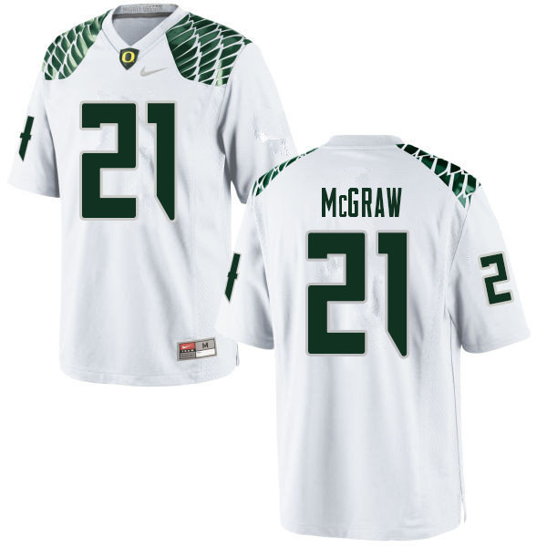 Men #21 Mattrell McGraw Oregn Ducks College Football Jerseys Sale-White