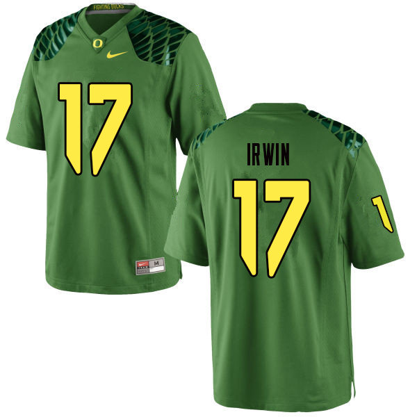Men #17 Mike Irwin Oregn Ducks College Football Jerseys Sale-Apple Green