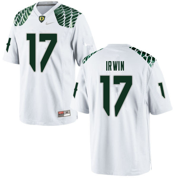 Men #17 Mike Irwin Oregn Ducks College Football Jerseys Sale-White