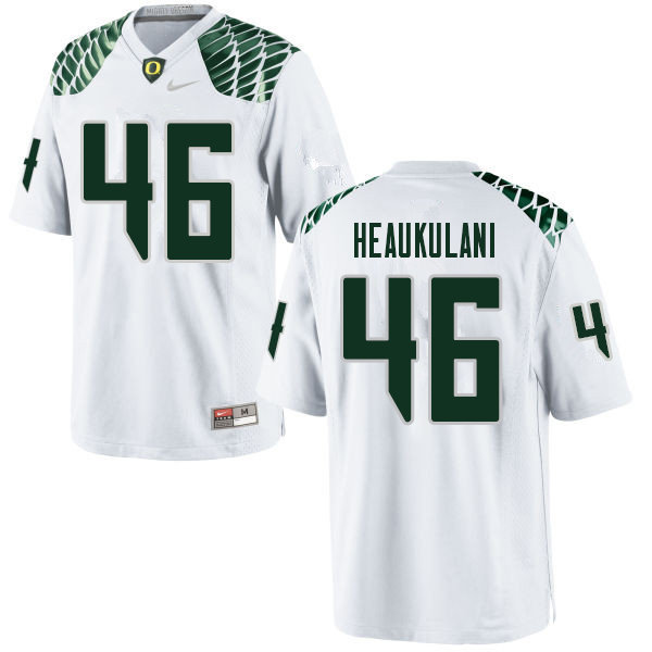 Men #46 Nate Heaukulani Oregn Ducks College Football Jerseys Sale-White