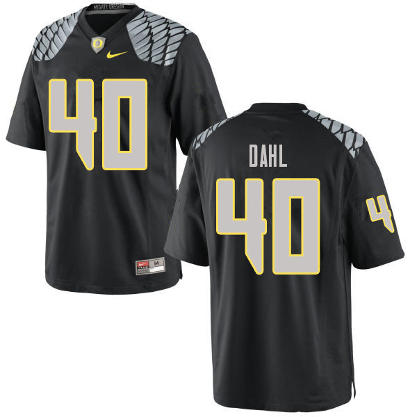 Men #40 Noah Dahl Oregn Ducks College Football Jerseys Sale-Black