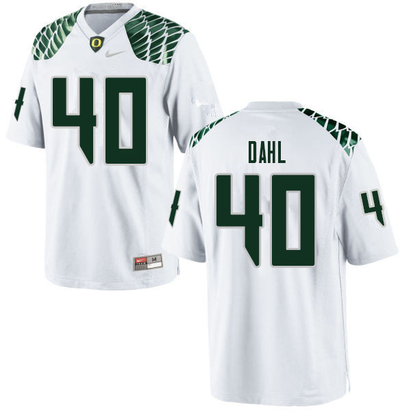 Men #40 Noah Dahl Oregn Ducks College Football Jerseys Sale-White