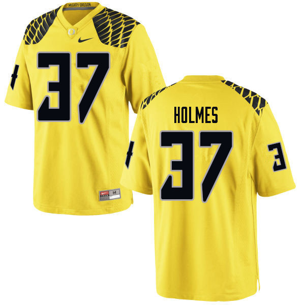 Men #37 Noah Holmes Oregn Ducks College Football Jerseys Sale-Yellow