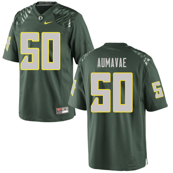 Men #50 Popo Aumavae Oregn Ducks College Football Jerseys Sale-Green
