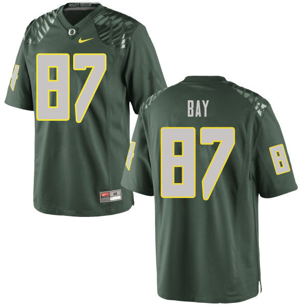 Men #87 Ryan Bay Oregn Ducks College Football Jerseys Sale-Green