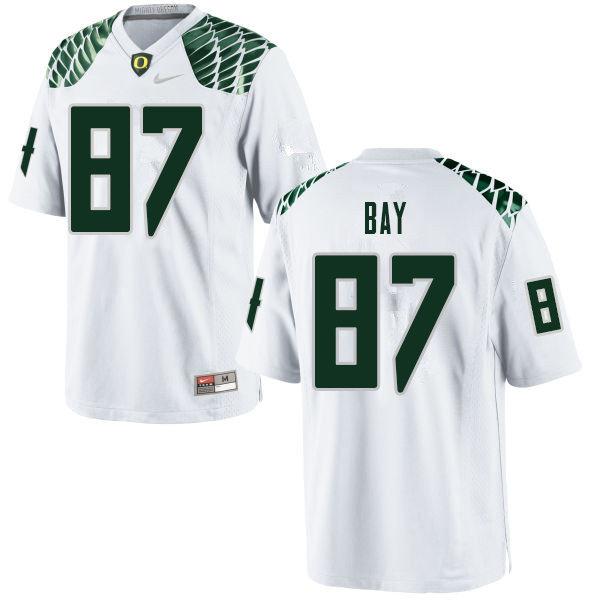 Men #87 Ryan Bay Oregn Ducks College Football Jerseys Sale-White