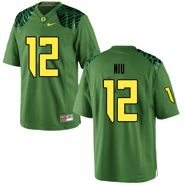 Men #12 Sampson Niu Oregn Ducks College Football Jerseys Sale-Apple Green