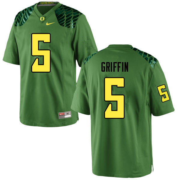 Men #5 Taj Griffin Oregn Ducks College Football Jerseys Sale-Apple Green
