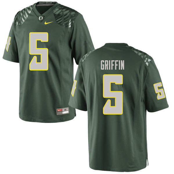 Men #5 Taj Griffin Oregn Ducks College Football Jerseys Sale-Green