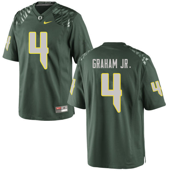 Men #4 Thomas Graham Jr. Oregn Ducks College Football Jerseys Sale-Green