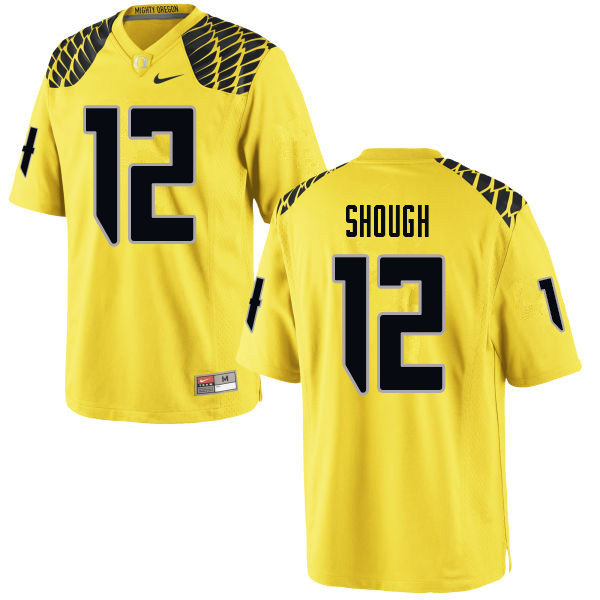 Men #12 Tyler Shough Oregn Ducks College Football Jerseys Sale-Yellow