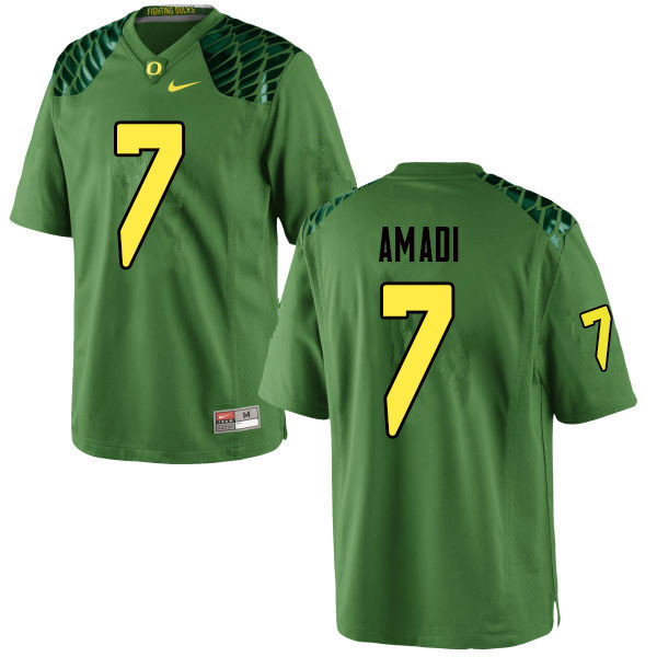 Men #7 Ugochukwu Amadi Oregn Ducks College Football Jerseys Sale-Apple Green