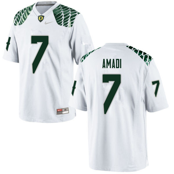 Men #7 Ugochukwu Amadi Oregn Ducks College Football Jerseys Sale-White