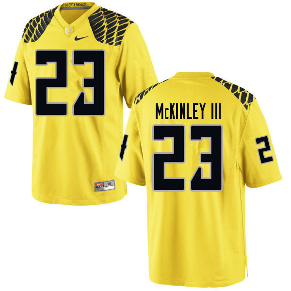 Men #23 Verone McKinley III Oregn Ducks College Football Jerseys Sale-Yellow