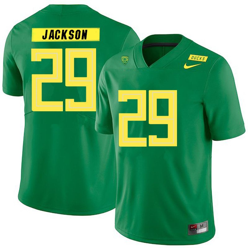2019 Men #29 Adrian Jackson Oregon Ducks College Football Jerseys Sale-Green