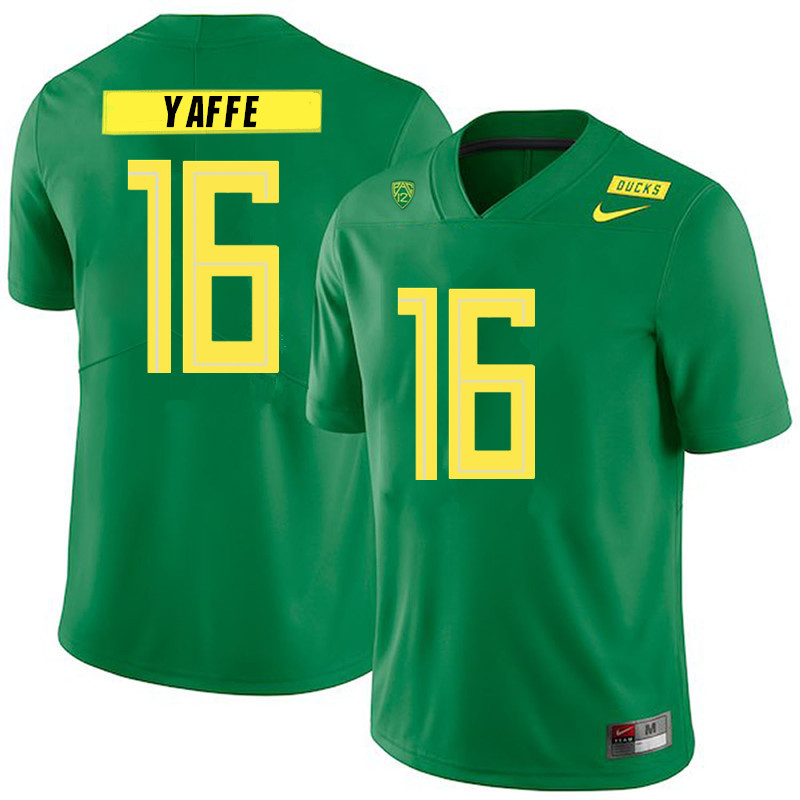 2019 Men #16 Bradley Yaffe Oregon Ducks College Football Jerseys Sale-Green