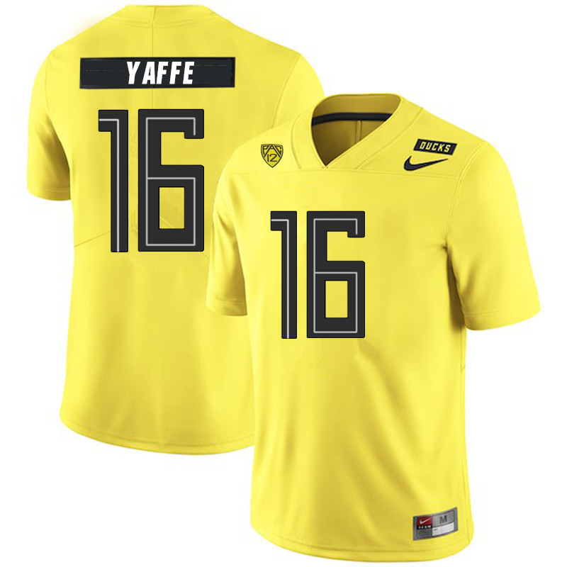 2019 Men #16 Bradley Yaffe Oregon Ducks College Football Jerseys Sale-Yellow