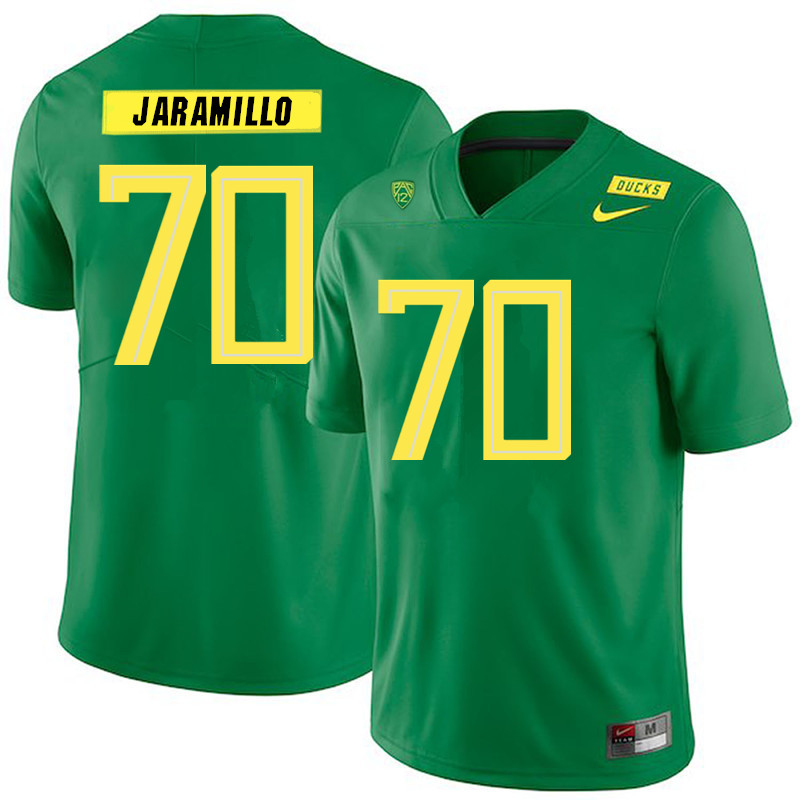 2019 Men #70 Dawson Jaramillo Oregon Ducks College Football Jerseys Sale-Green