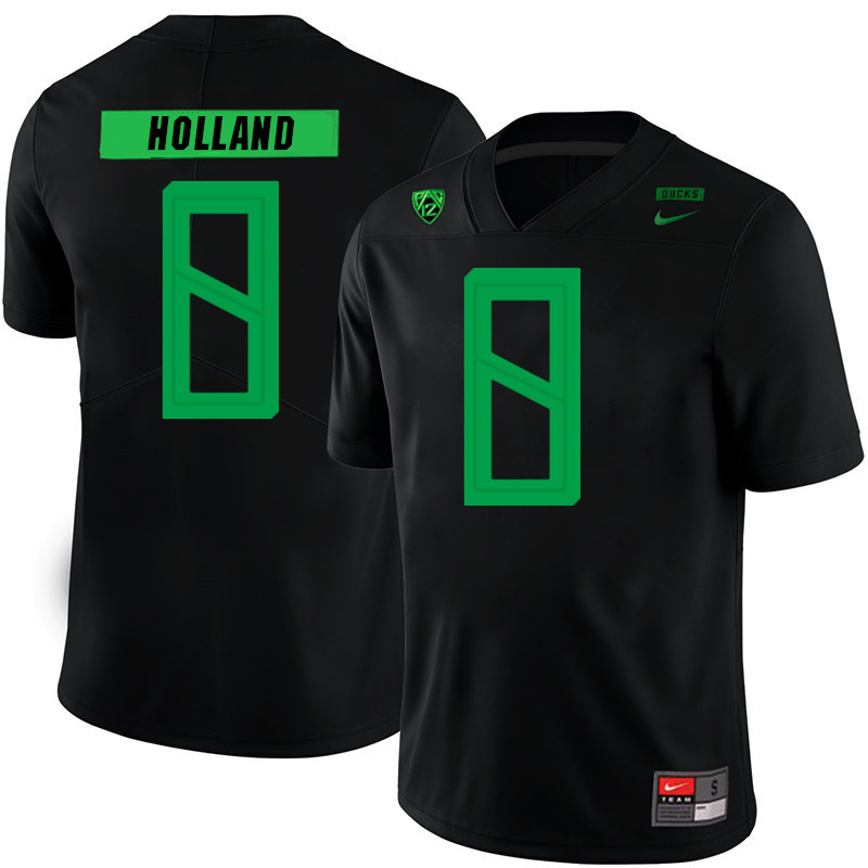 2019 Men #8 Jevon Holland Oregon Ducks College Football Jerseys Sale-Black