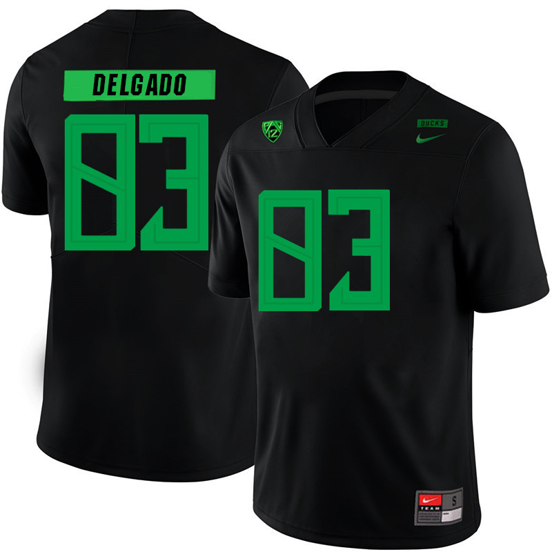 2019 Men #83 Josh Delgado Oregon Ducks College Football Jerseys Sale-Black