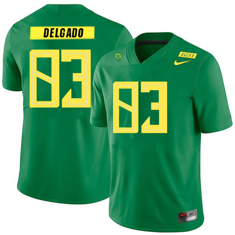 2019 Men #83 Josh Delgado Oregon Ducks College Football Jerseys Sale-Green