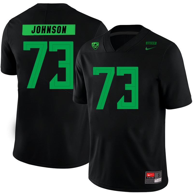2019 Men #73 Justin Johnson Oregon Ducks College Football Jerseys Sale-Black
